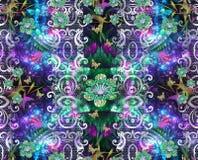 Дизайн текстуры картины цветка на безшовной ткани, ткани, backgrou Стоковое Фото