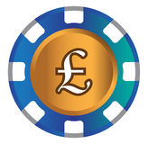 Дизайн темы Фунт-монетки иллюстрация штока