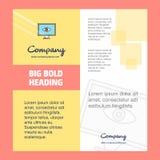 Дизайн титульного листа брошюры компании глаза Направление компании, годовой отчет, представления, предпосылка вектора листовки иллюстрация штока