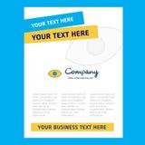 Дизайн титульного листа глаза для направления компании, годового отчета, представлений, листовки, предпосылки вектора брошюры иллюстрация вектора