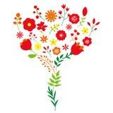 Дизайн украшения букета цветка весны флористический бесплатная иллюстрация