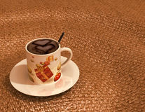 Дизайн утра Cappucinno Стоковые Фотографии RF