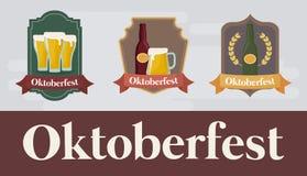Дизайн фестиваля Oktoberfest с ilustration vectot значка Стоковые Фото
