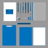 Дизайн фирменного стиля Пустой шаблон элементов на серой предпосылке Стоковые Изображения