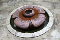 Дизайн фонтана цветка Стоковое Изображение