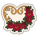 Дизайн формы сердца иллюстрация штока