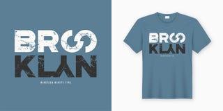 Дизайн футболки и одеяния Бруклина стильный Печать вектора, typog иллюстрация вектора
