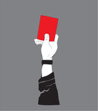 ДИЗАЙН ФУТБОЛКИ - красная карточка Стоковая Фотография RF