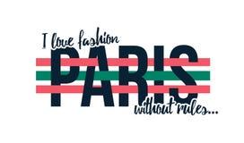 Дизайн футболки с лозунгом Я люблю моду без правил, лозунг для печати футболки Стоковые Изображения