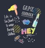 Дизайн футболки с цитатами и заплатами бесплатная иллюстрация