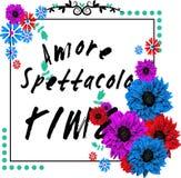Дизайн футболки Amore Стоковая Фотография RF