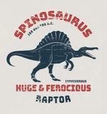 Дизайн футболки Spinosaurus, печать, оформление иллюстрация вектора