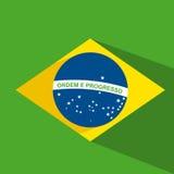 Дизайн флага Бразилии бесплатная иллюстрация