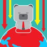 Дизайн характера и концепция дела Иллюстрация symb медведя Стоковая Фотография RF