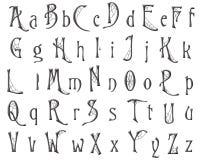 Дизайн хеллоуина паутины алфавита Scrapbooking Стоковое фото RF