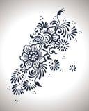 Дизайн хны цветка Стоковые Изображения