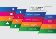 Дизайн цвета вектора шаблона делового круга infographic Стоковые Изображения RF