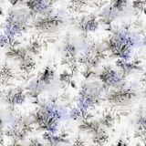 Дизайн цветка акварели Стоковое фото RF