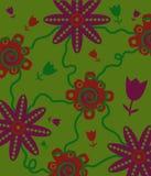 Дизайн цветка с зеленой предпосылкой Стоковые Фото