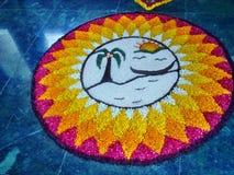 Дизайн цветка Onam стоковые изображения rf