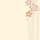 Дизайн цветков лета Стоковые Изображения
