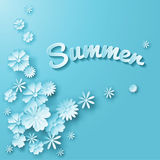Дизайн цветков лета Стоковые Фотографии RF