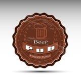 Дизайн циновки пива Стоковые Изображения