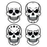 Дизайн черепа хеллоуина человеческий - смерть, день умерших иллюстрация вектора