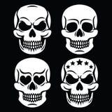 Дизайн человеческого черепа хеллоуина белый - смерть, день умерших бесплатная иллюстрация