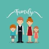 Дизайн членов семьи Стоковые Фотографии RF