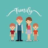 Дизайн членов семьи Стоковая Фотография