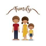 Дизайн членов семьи Стоковое фото RF