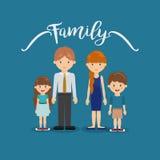 Дизайн членов семьи Стоковые Фото