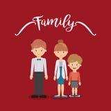 Дизайн членов семьи Стоковая Фотография RF