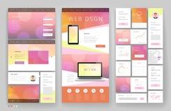 Дизайн шаблона вебсайта с элементами интерфейса стоковая фотография rf