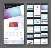 Дизайн шаблона вебсайта с элементами интерфейса стоковые фото