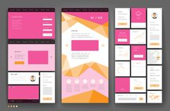 Дизайн шаблона вебсайта с элементами интерфейса стоковая фотография