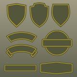 Дизайн шаблона заплат армии цветов войск иллюстрация штока