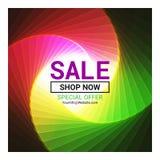 Дизайн шаблона знамени продажи Абстрактная цветастая спиральн предпосылка бесплатная иллюстрация