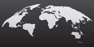 дизайн шаблона карты мира глобуса 3D также вектор иллюстрации притяжки corel иллюстрация вектора