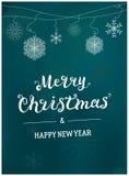 Дизайн шаблона с Рождеством Христовым рождественской открытки Стоковые Фотографии RF