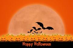 Дизайн шаблона хеллоуина с космосом для текста или сообщения бесплатная иллюстрация