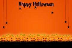 Дизайн шаблона хеллоуина с космосом для текста или сообщения иллюстрация штока