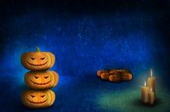 Дизайн шаблона хеллоуина фонарика Джека o бесплатная иллюстрация