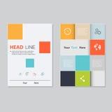Дизайн шаблона брошюры вектора Абстрактные предпосылки, плоская информация Стоковые Фотографии RF