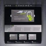 Дизайн шаблона вебсайта дела элегантный темный Стоковое фото RF