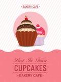 Дизайн шаблона, знамени или рогульки пирожного Стоковые Изображения