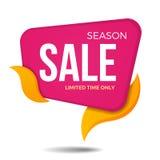 Дизайн шаблона значка стикера знамени ценника ярлыка продажи сезона Стоковое Изображение RF