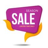 Дизайн шаблона значка стикера знамени ценника ярлыка продажи сезона Стоковые Фотографии RF
