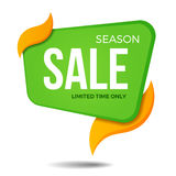 Дизайн шаблона значка стикера знамени ценника ярлыка продажи сезона Стоковое Фото